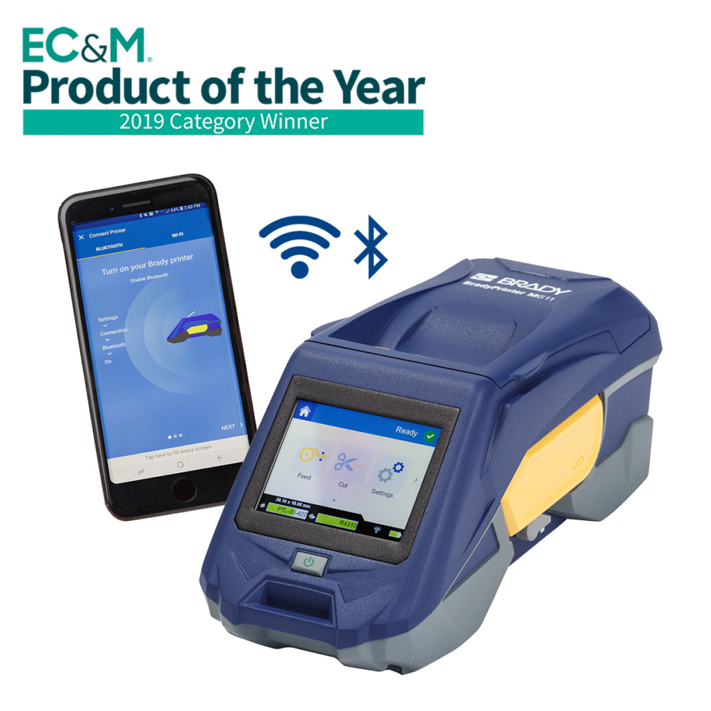 EC&M Product of the Year 2019: Brady Printer M611 and Express Labels mobile app